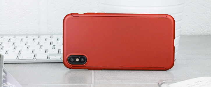 Olixar X-Trio Full Cover iPhone X Case - Red