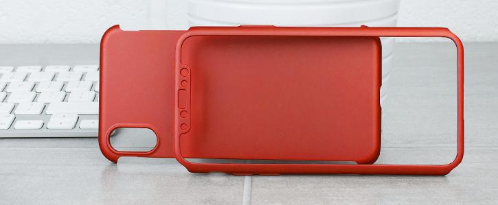 Olixar X-Trio Full Cover iPhone X Case - Red