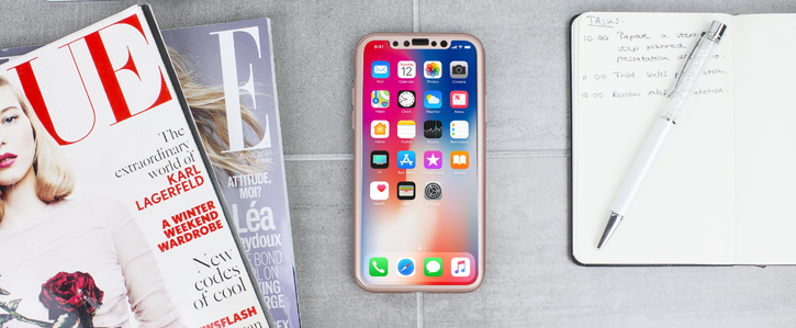 Olixar X-Trio Full Cover iPhone X Case - Rose Gold