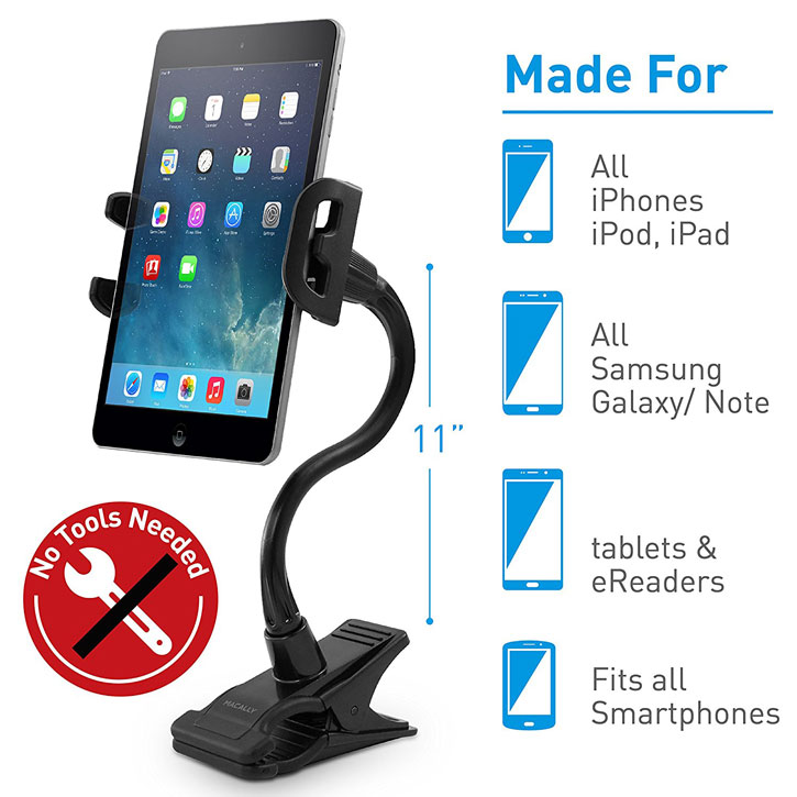 Macally Clipmount Clip-On Universal Smartphone / Tablet Mount Holder