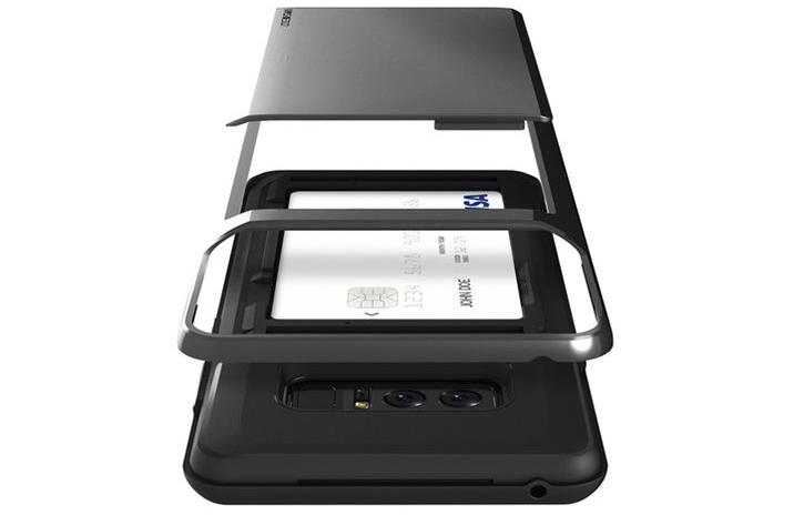 VRS Design Damda Glide Samsung Galaxy Note 8 Case - Metallic Black