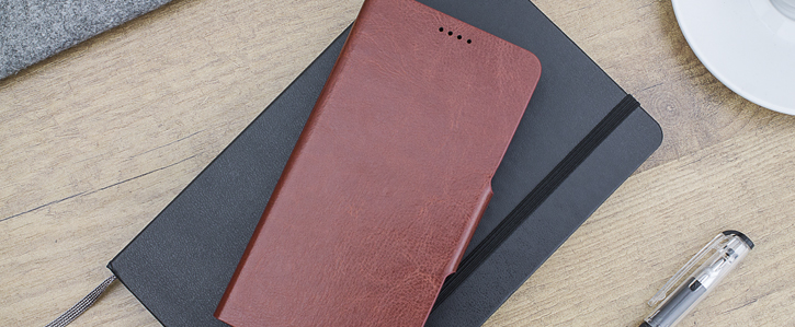 Olixar Leather-Style OnePlus 5 Wallet Case - Brown