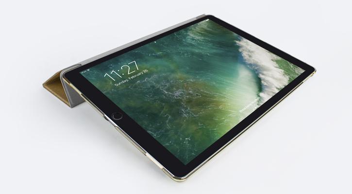 Olixar iPad Pro 12.9 2017 Folding Stand Smart Case - Clear / Gold