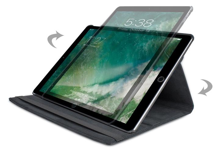 Olixar iPad Pro 12.9 2017 Rotating Stand Case - Black