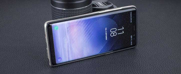 Olixar X-Duo Samsung Galaxy Note 8 Case - Carbon Fibre Silver