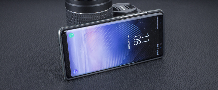 Olixar X-Duo Samsung Galaxy Note 8 Case - Carbon Fibre Metallic Grey
