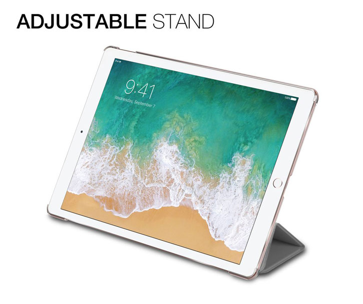Patchworks PureCover 2017 iPad Pro 10.5 Smart Stand Case - Grey