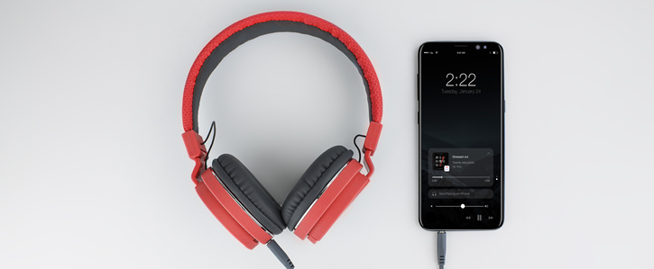 Bitmore Classic Over Ear Folding Headphones with Mic and Remote - Red