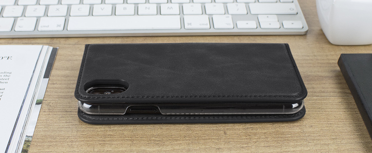 Olixar Genuine Leather iPhone 8 Executive Wallet Case - Black