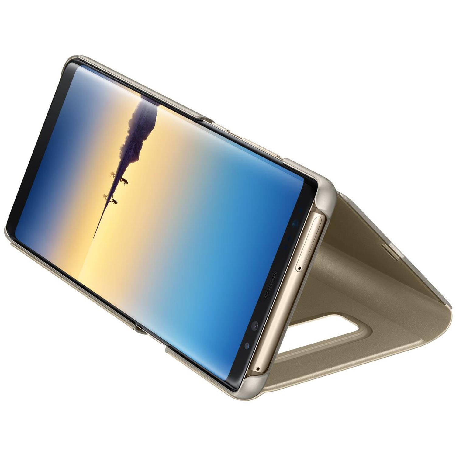 Official Samsung Galaxy Note 8 Clear View Standing Cover Case - Gold