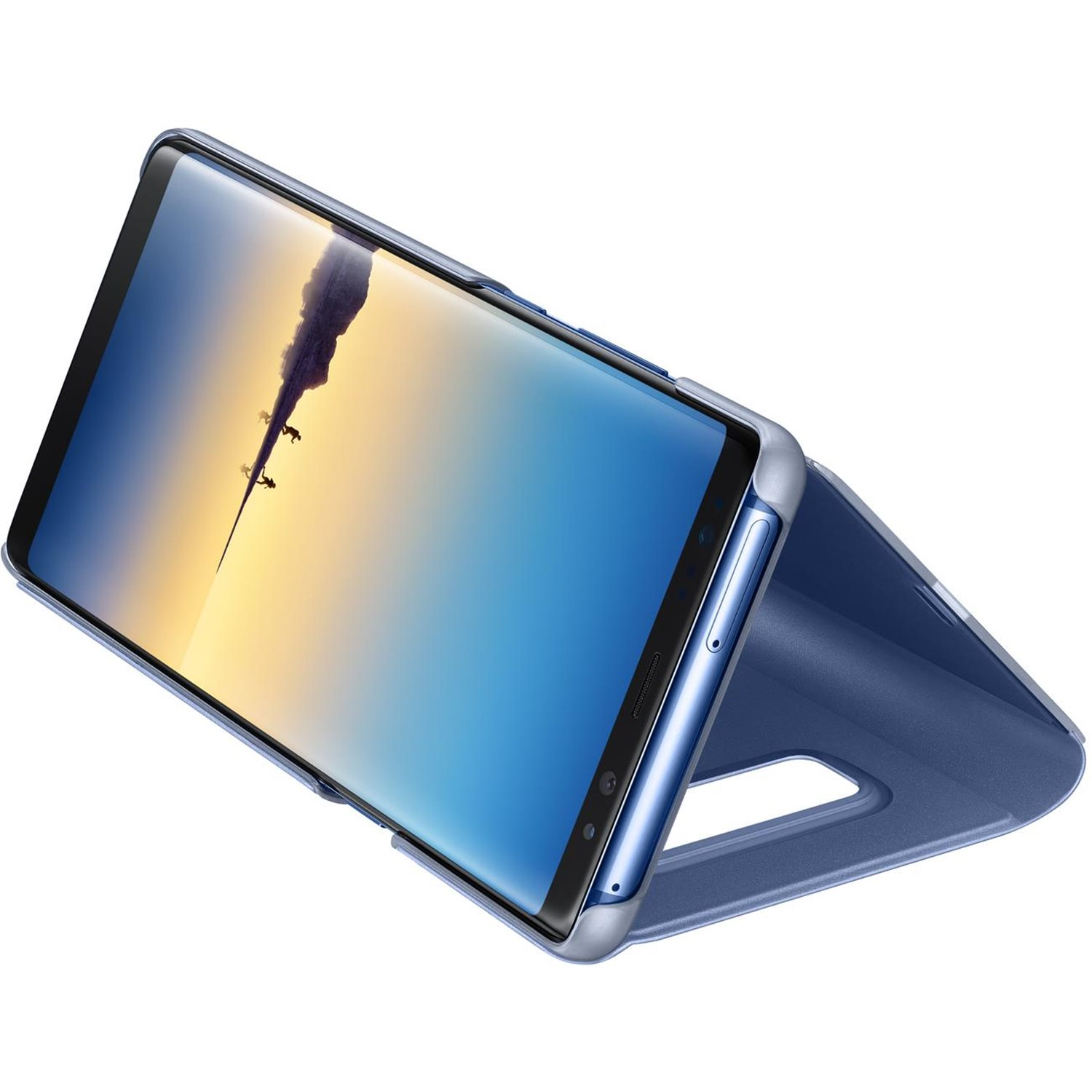 Official Samsung Galaxy Note 8 Clear View Standing Cover Case - Blue