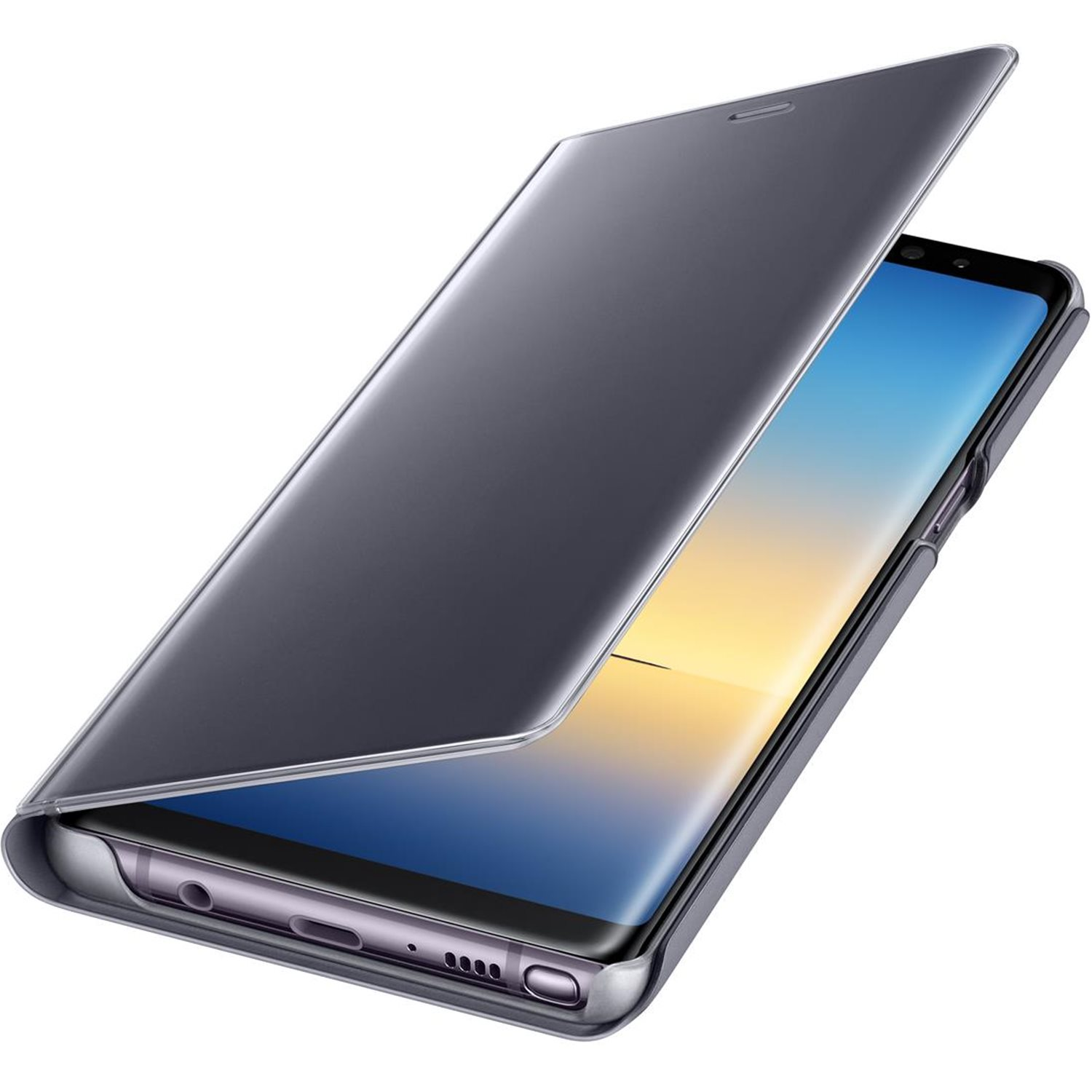Official Samsung Galaxy Note 8 Clear View Standing Cover Case - Grey