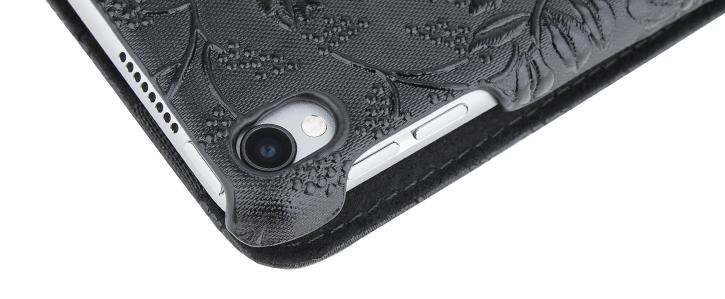 Olixar iPad Pro 10.5 Luxury Rotating Stand Case - Black Floral