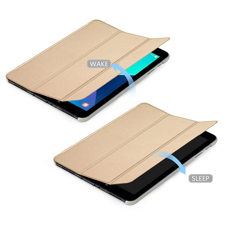 Ultra Slim Samsung Galaxy Tab S3 Book Stand Case - Gold