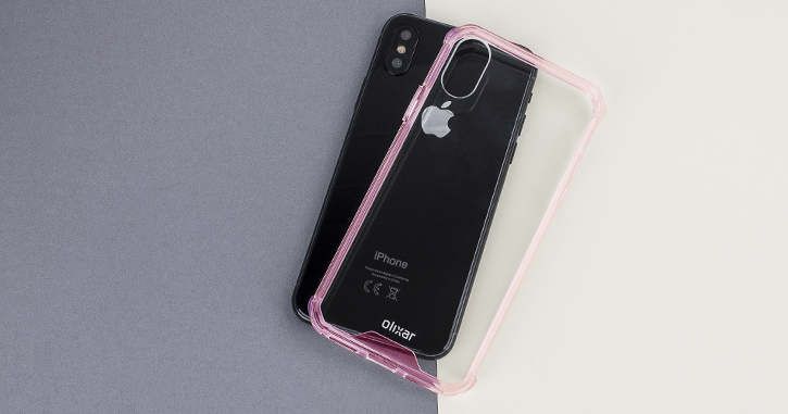 Olixar ExoShield Tough Snap-on iPhone X Case  - Rose Gold / Clear