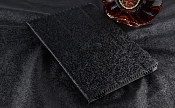 Luxury Genuine Leather iPad Pro 10.5 Folding Stand Case - Black