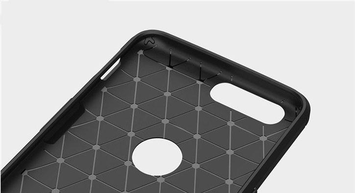 Olixar OnePlus 5 Carbon Fibre Slim Skal - Svart
