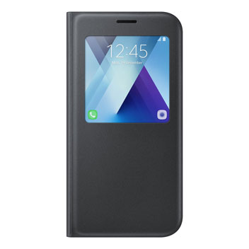 Official Samsung Galaxy A7 2017 S View Premium Cover Case - Black