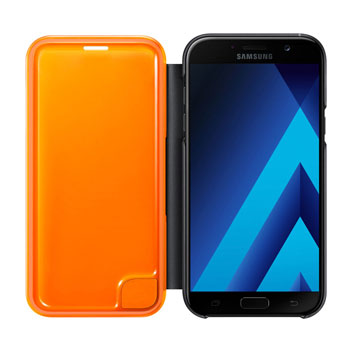 Official Samsung Galaxy A7 2017 Neon Flip Cover - Black