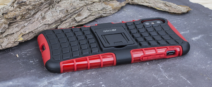 Olixar ArmourDillo iPhone 8 Protective Case - Red