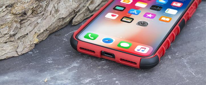 Olixar ArmourDillo iPhone X Protective Case - Red
