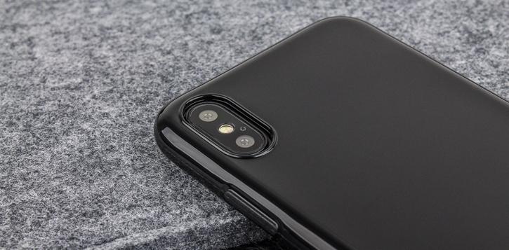 Olixar FlexiShield iPhone 8 Gel Case - Jet Black
