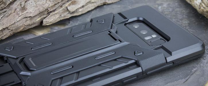 Olixar X-Trex Galaxy Note 8 Rugged Card Kickstand Case - Black