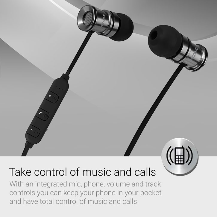 Groov-e Bullet Buds Metal Wireless Earphones with Mic - Silver
