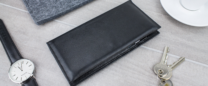 Olixar Primo Genuine Leather Universal Pouch Wallet Case - Black