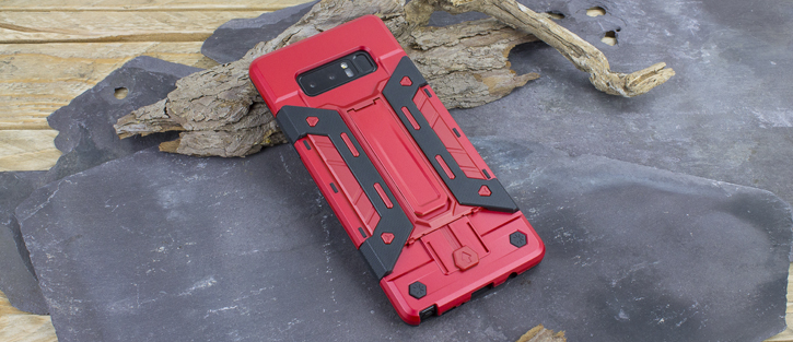 Olixar X-Trex Galaxy Note 8 Rugged Card Kickstand Case - Red