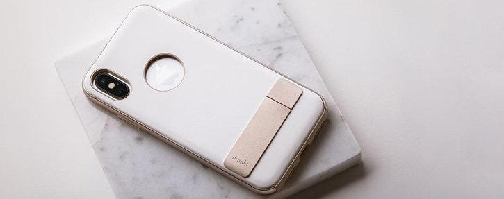 classic fit c3e4c dc8f0 Moshi Kameleon iPhone X Kickstand Case - Ivory White