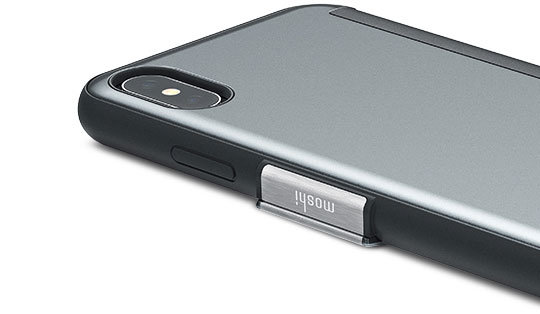 Moshi StealthCover iPhone X Clear View Folio Case - Gunmetal