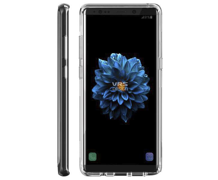 VRS Design Crystal Bumper Samsung Galaxy Note 8 Case - Jet Black