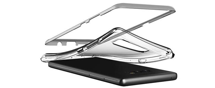 VRS Design Crystal Bumper Samsung Galaxy Note 8 Case - Steel Silver
