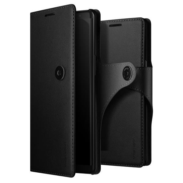 VRS Design Daily Diary Leather-Style Galaxy Note 8 Case - Black