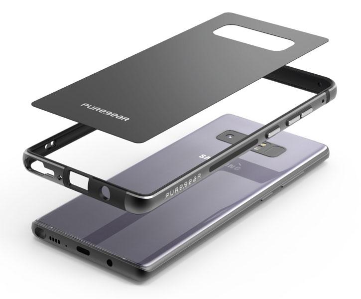 Puregear Glassbak 360 Samsung Galaxy Note 8 Case - Black