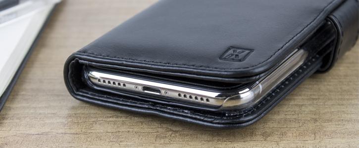 Olixar Genuine Leather iPhone 7 Wallet Case - Black