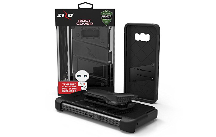 Zizo Bolt Series Samsung Galaxy Note 8 Tough Case & Belt Clip - Black