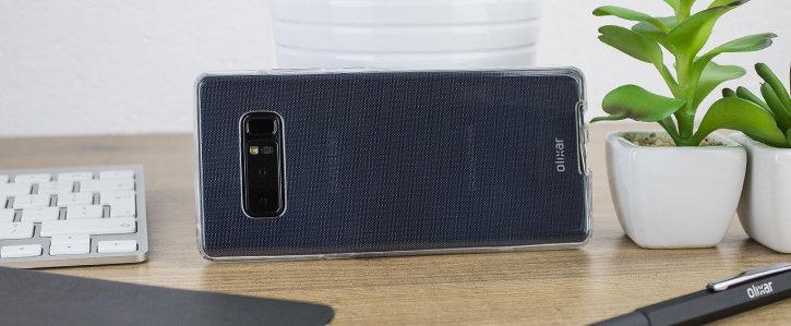 Coque Samsung Galaxy Note 8 Olixar FlexiCover protection complète vue sur appareil photo