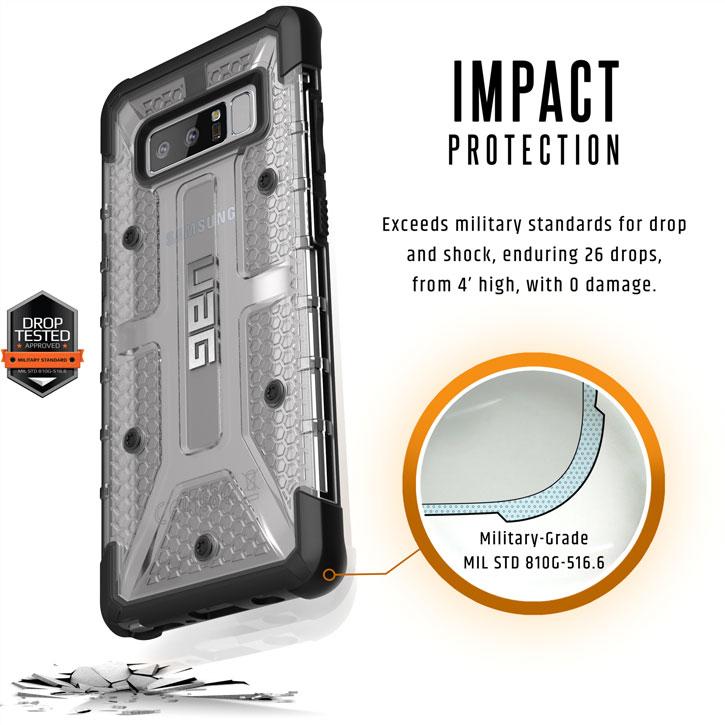 UAG Plasma Samsung Galaxy Note 8 Skal - Glaciär / Svart