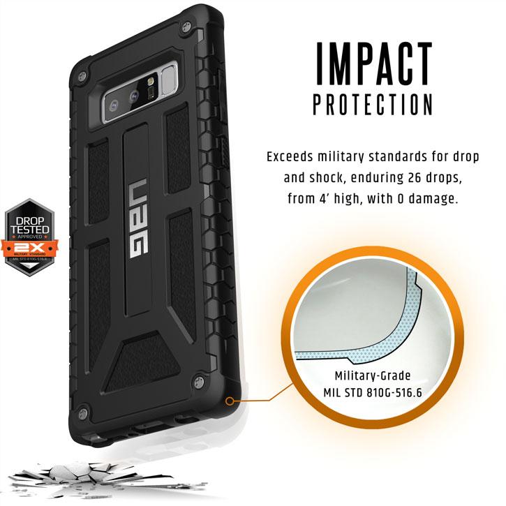 UAG Monarch Premium Samsung Galaxy Note 8 Skal - Svart