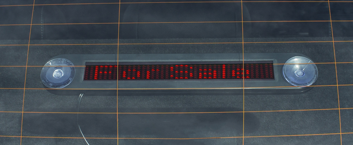 United In-Car Programmable Scrolling LED Message Board