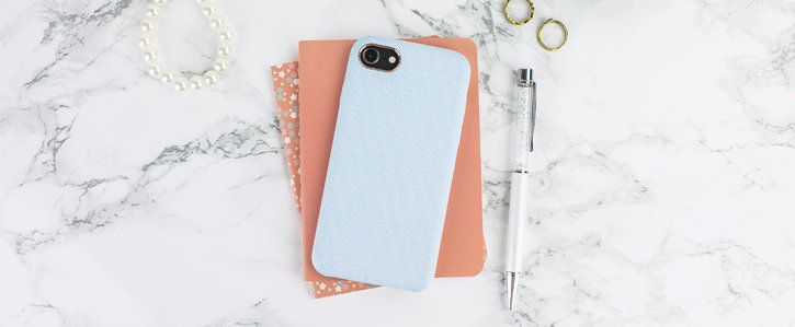 LoveCases Pretty in Pastel iPhone 8 Denim Design Case - Blue