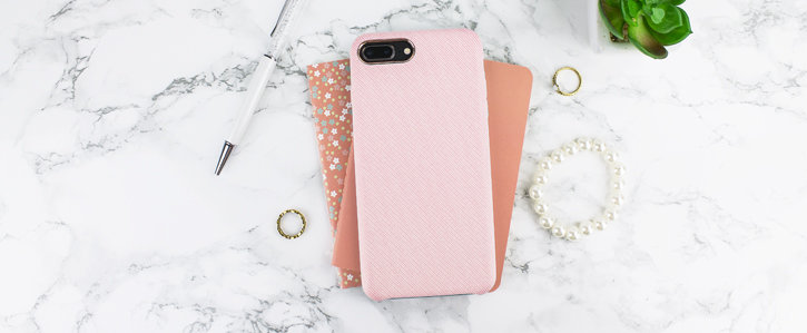 LoveCases Pretty in Pastel iPhone 8 Plus Denim Design Case - Pink