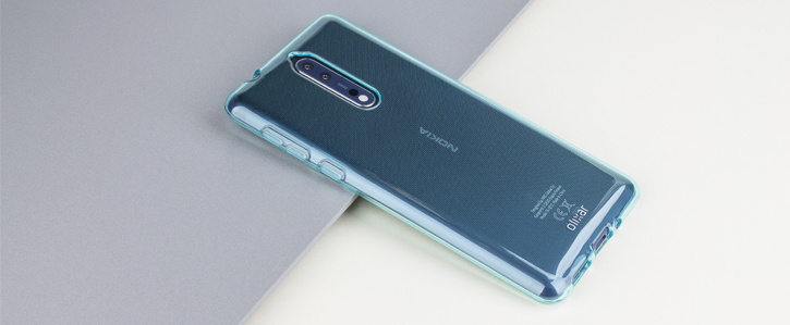 Olixar FlexiShield Nokia 8 Gel Case - Blue