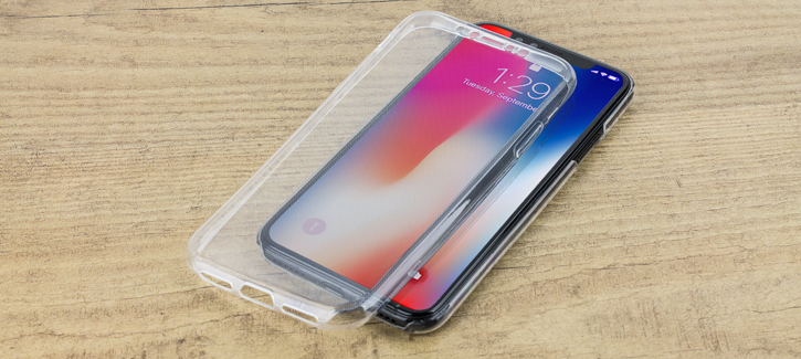 Olixar FlexiCover Full Protection iPhone X Gel Case - Clear