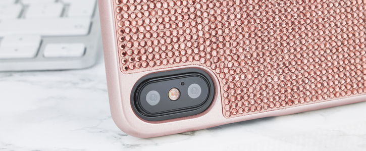 LoveCases Luxury Crystal iPhone X Case - Rose Gold