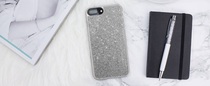 LoveCases Luxury Crystal iPhone 8 Plus / 7 Plus Case - Silver