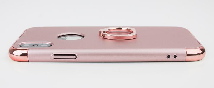 Coque iPhone X Olixar X-Ring – Or Rose