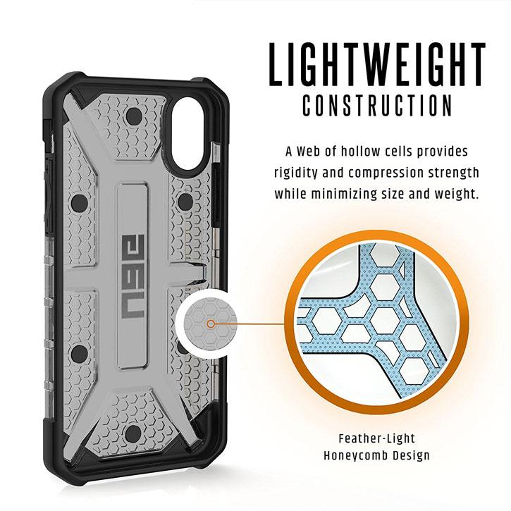Coque iPhone X UAG Plasma Protective – Cendre